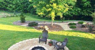 55 Amazing and Cheap Fire Pit and Backyard Landscaping Ideas #backyardshed #back...