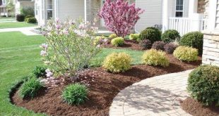 42+ Cool and Beautiful Front Yard Landscaping Ideas on A Budget #backyardshed #b...