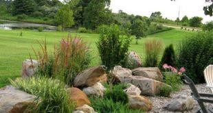 25 Rock Garden Designs Landschaftsideen für den Vorgarten 2018 #LandscapingIdea...