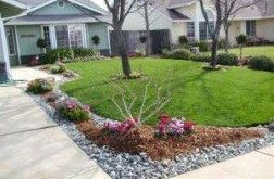 Landscaping front yard with rocks curb appeal garden ideas 43 Ideas