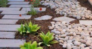Low maintenance landscape ideas front yard stones drought tolerant 40 ideas